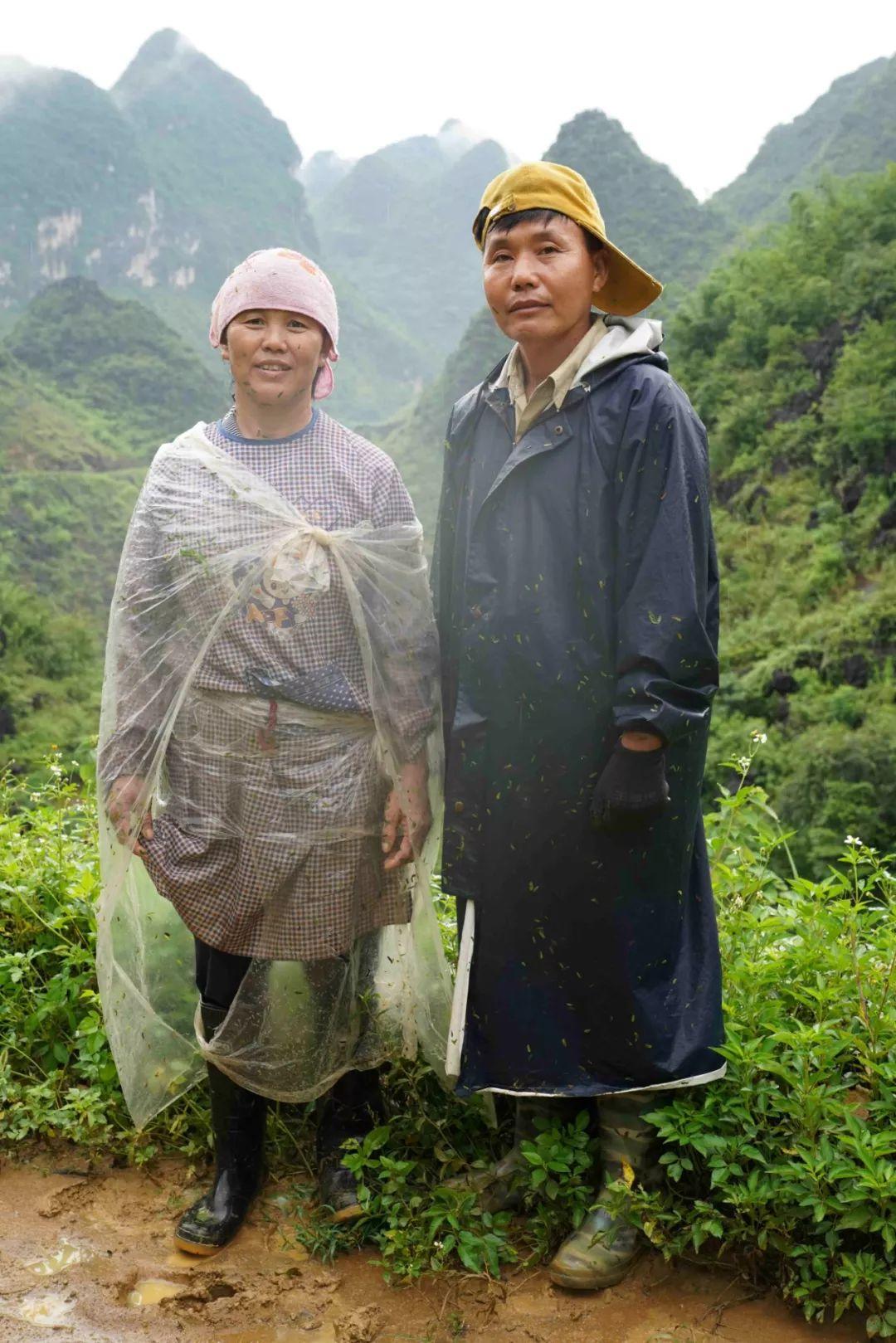 梅林村前任支书阮世伯夫妇,非常勤快,想以养蚕养鸡带领群众脱贫致富.图片