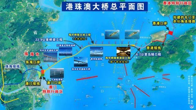 港珠澳大桥总平面图 新华社记者      -港珠澳大桥开通,40分钟直达香港
