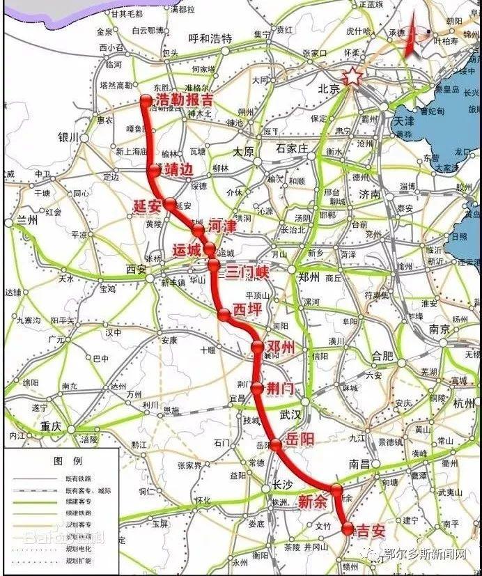 湖南铁路规划_5公里,规划输送能力为2亿吨/年以上,预计蒙华铁路2019年年底建成通车.