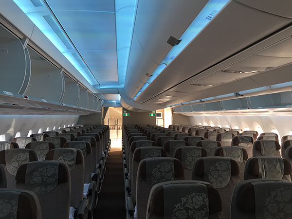 这架客机配高清机载摄像头,乘客可实时看起降画面和高度位置