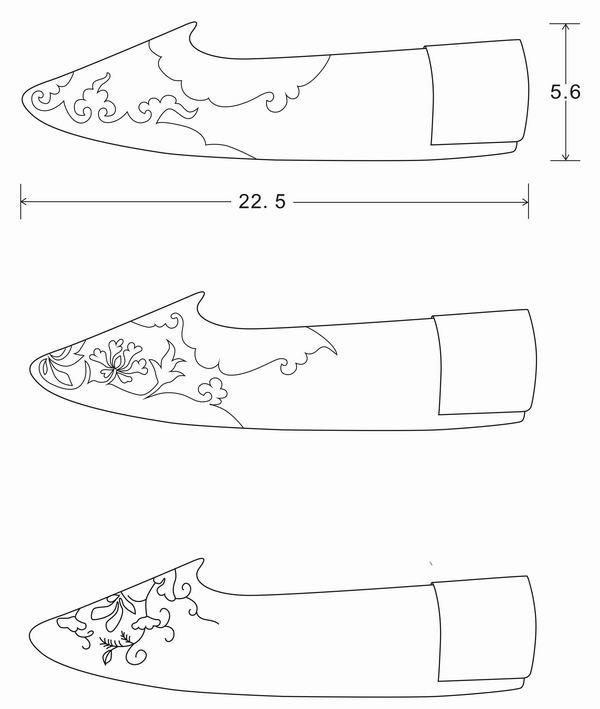 出土鞋子及其结构图 5c