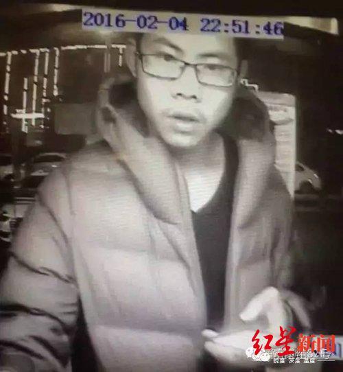 吴谢宇2016年2月4日被拍到曾在河南某处ATM机取钱