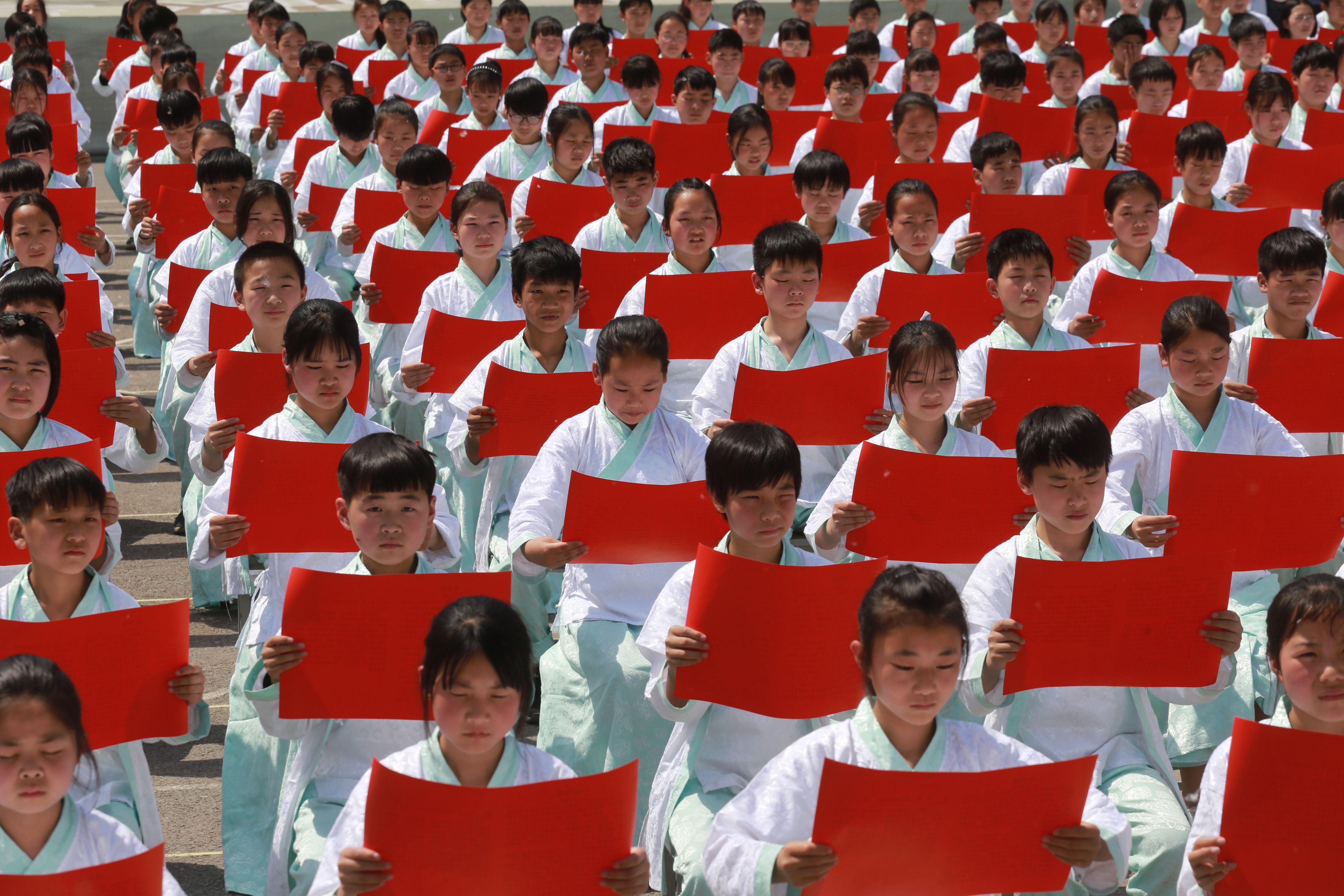 河南鲁山:千人诵读《仓颉赋》祭字祖