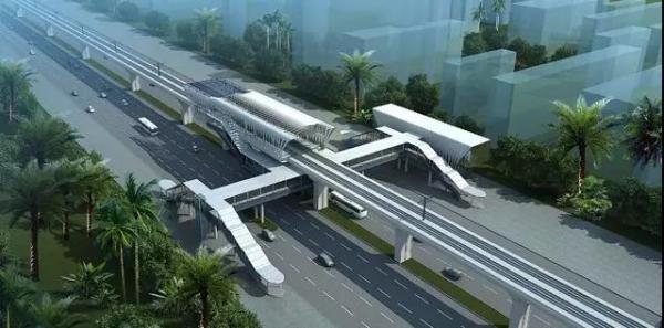 南海新交通部分路段效果图