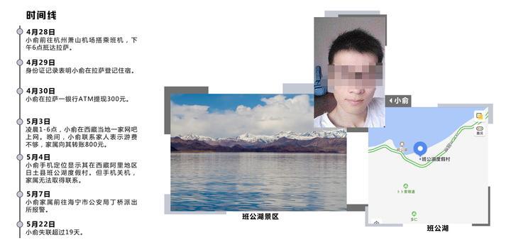浙江海宁27岁小伙西藏旅游已失联19天,朋友圈对家人屏蔽