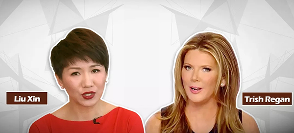 CGTN女主播劉欣與FOX女主播翠西電視交鋒