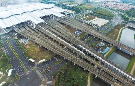 三龙湾将对接广州南站。羊城晚报记者周巍摄