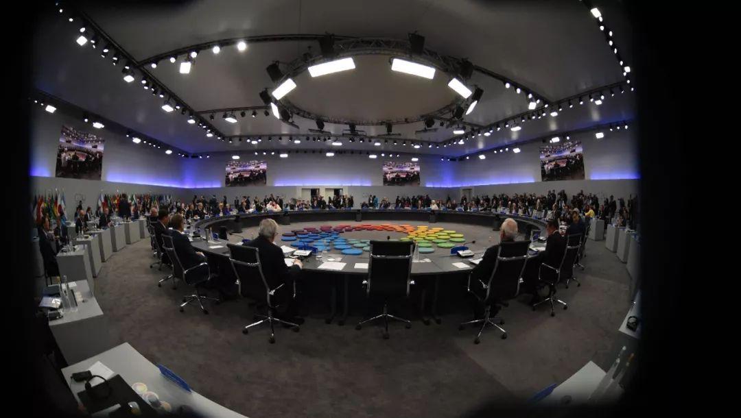 G20布宜诺斯艾利斯峰会第一阶段会议的现场。