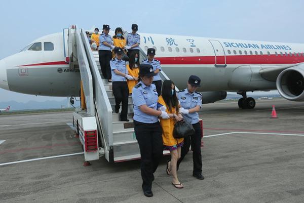 台州移动靓号重庆破获特大跨国电信诈骗案,63名嫌疑人从柬埔