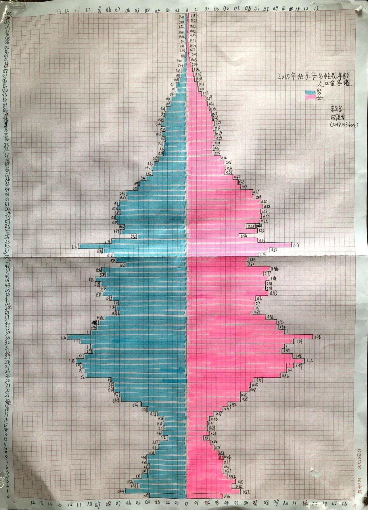 人口金字塔图_世界人口日|花样解读手绘人口金字塔