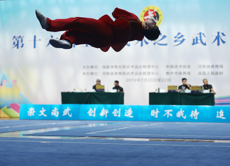 7月22日,选手在比赛中。