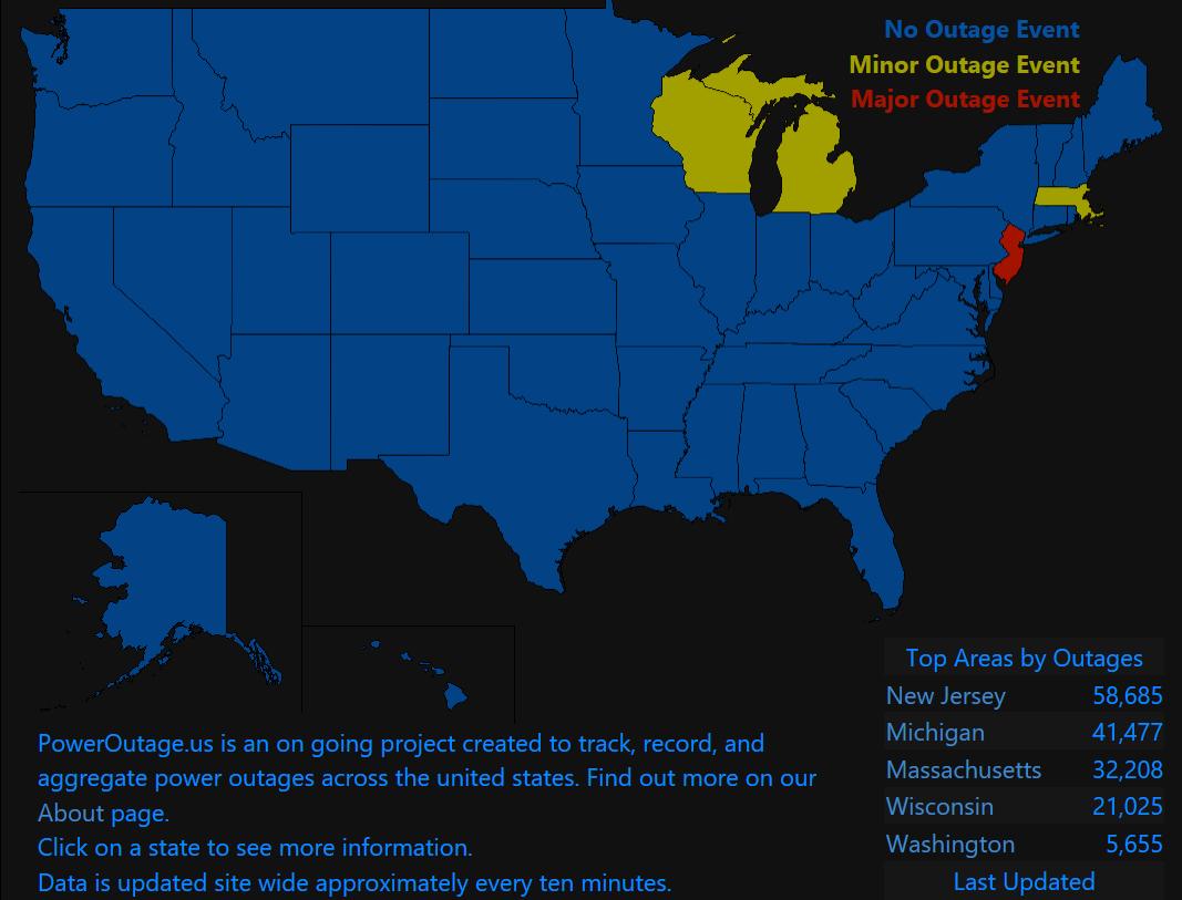 退出巴黎协定的美国正在遭遇极端气候打击,多州出现大停电