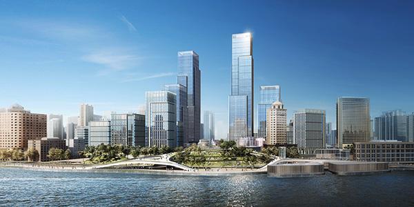 绿地披露董家渡项目进展:总部办公楼全部封顶,中国人保入驻