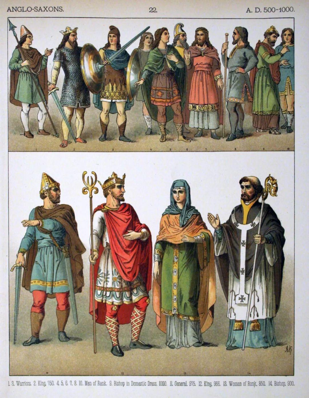 盎格鲁-撒克逊人的装扮