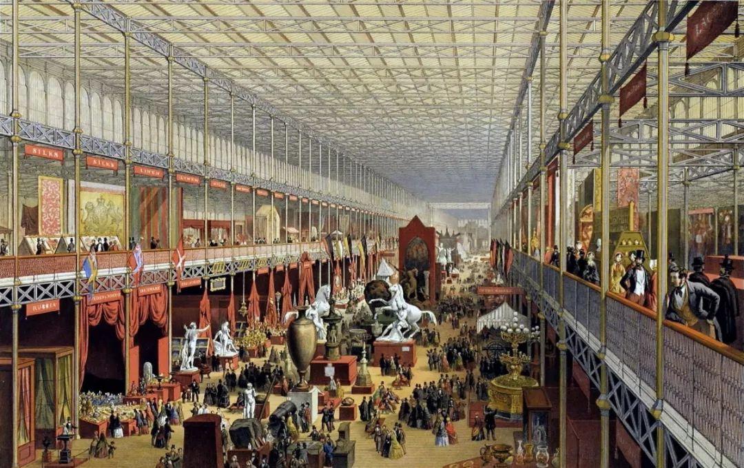 1851年在伦敦水晶宫举办的第一届万国工业博览会