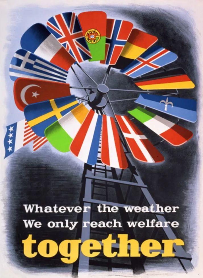 欧洲战后复兴时期的宣传海报