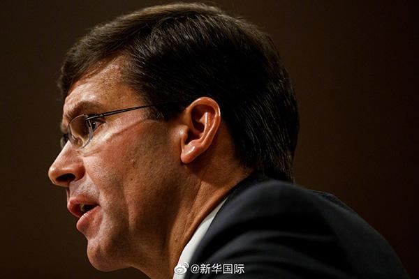 美国防长:支持尽快在亚洲部署陆基中程导弹