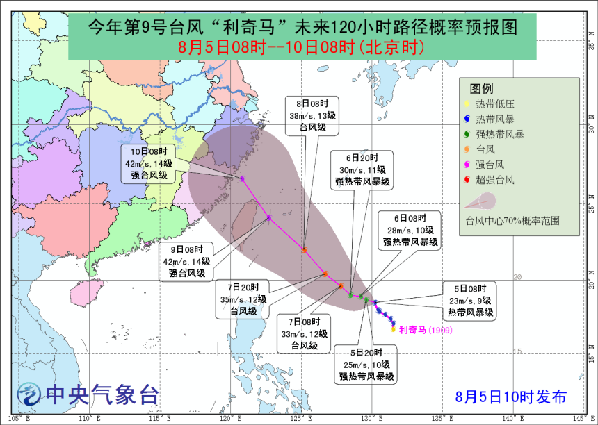 """上海本周暂无高温,台风""""利奇马""""的""""走位""""存较大不确定性"""
