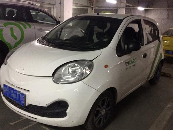 犯罪嫌疑人金某私占的分时租赁汽车 上海市松江区人民检察院 供图