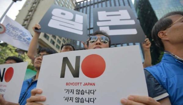 """韩国公务员加入""""抵制日货""""行列:坚决不买日本办公品"""