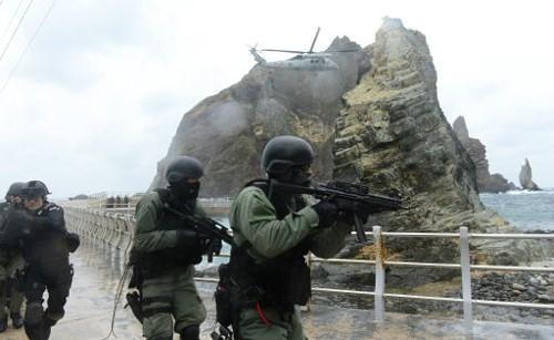 韩国独岛演习要升级:海警、海陆空三军都参加