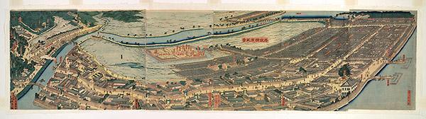 """浮士绘等日本版画中的美国印象:从""""长腿国""""到""""蒸汽火车"""""""