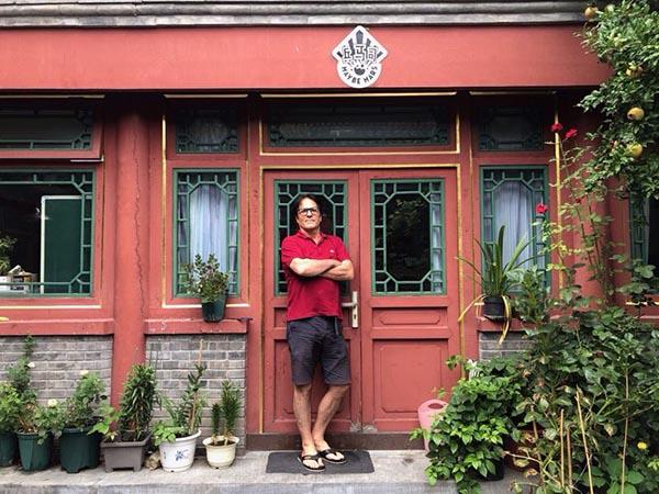 2019年8月,Michael Pettis在兵马司原址,北京地安门。Fan Yan 图