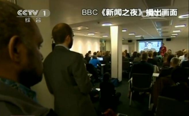 "BBC网站以""活动分子在奥斯陆自由论坛分享秘密""为题刊发了这篇电视报道"