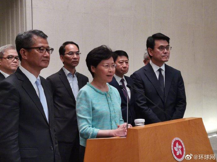 时隔4日再见媒体,林郑月娥:港府现在所有精力是要停止暴力