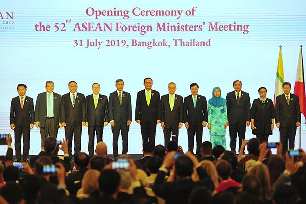 """东盟外长会首日盘点:泰国外长呼吁""""灵活、外向、向前看"""""""