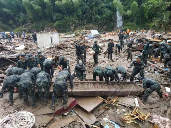 浙江永嘉堰塞湖决口13人遇难,十分钟山洪最高水位涨到十米