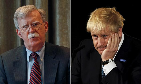 """博尔顿见约翰逊:""""特朗普乐见英国脱欧,我们与你们同在"""""""