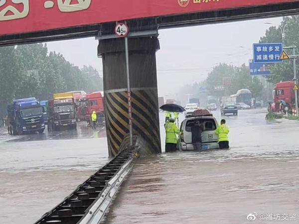 """山东青州因""""利奇马""""多镇街受灾,全市转移4580人无伤亡"""