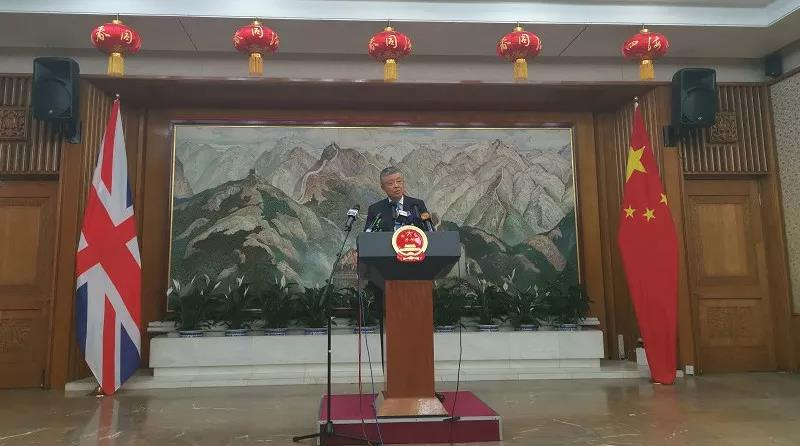 视频丨驻英大使记者会上播香港短片:在西方媒体看不到的画面