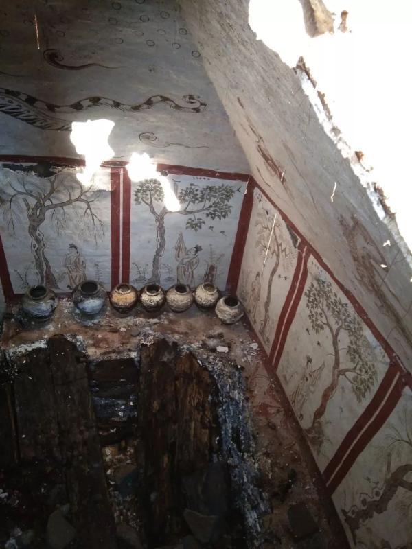 <b>太原发现唐代墓葬,壁画显示墓主身份不寻常</b>
