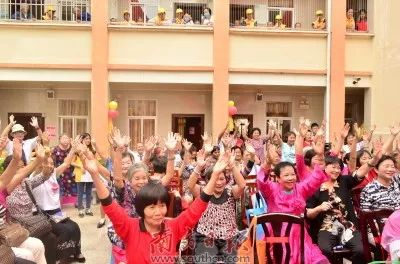 ▲ 图为惠州一养老服务中心活动现场。