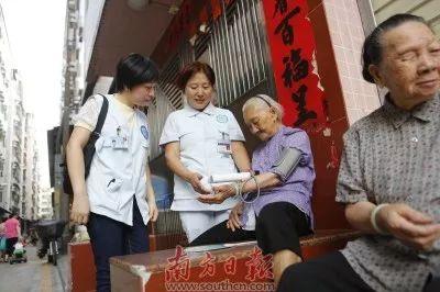 ▲ 图为深圳罗湖区居家养老上门服务。