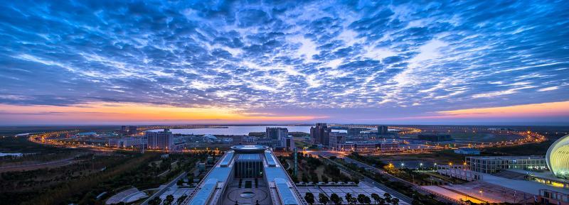 上海临港主城区。