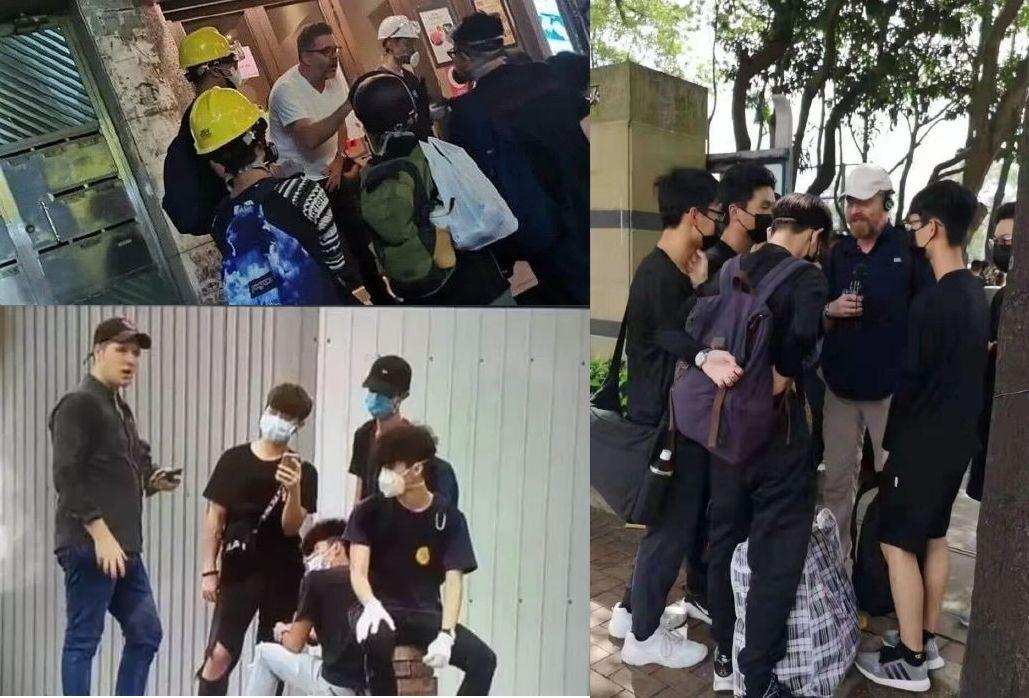 """香港示威活动中的""""洋教官"""""""