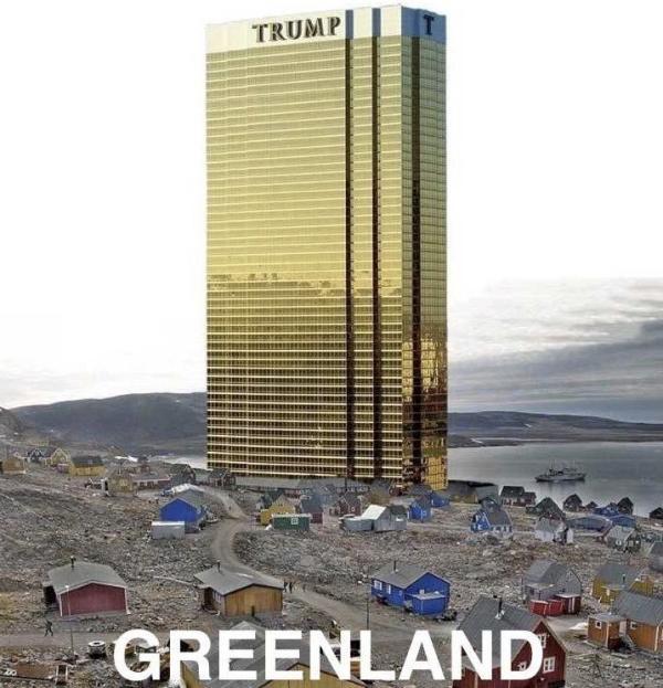 特朗普转发网友恶搞图,称保证不会把特朗普酒店建到格陵兰