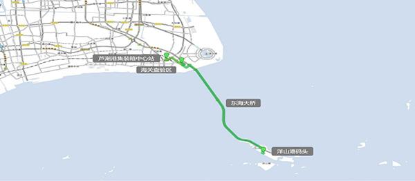 AI+临港:自动驾驶集卡能在东海大桥上与社会车辆混跑