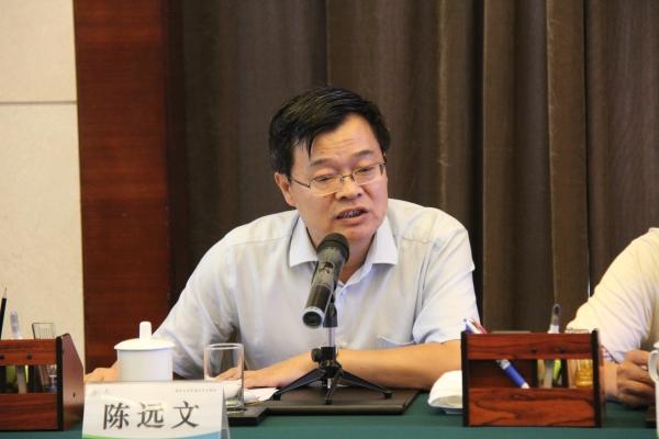 陈远文介绍鲁菜文化及产业发展项目有关情况