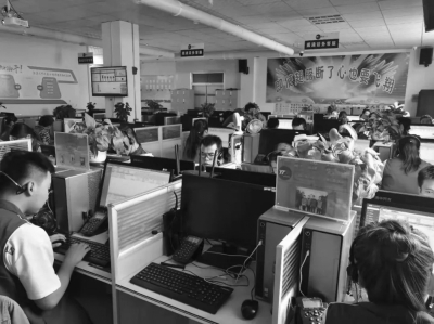 集善乐业残疾人网络就业张掖基地内景。 本文图片 公益时报