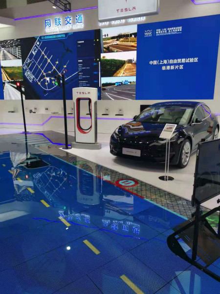世界人工智能大会上,上海自贸区临港新片区展区。 本文图片 新民晚报