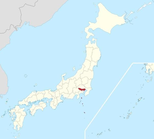 图1:东方京邑在日本的位置
