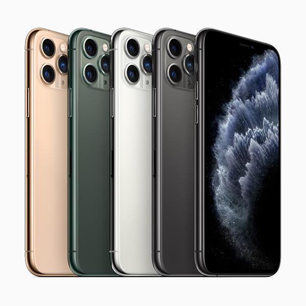 iPhone 11 Pro 和 iPhone 11 Pro Max 。
