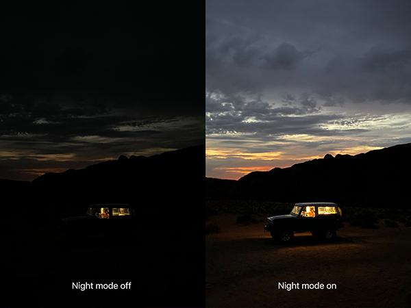 iPhone 11pro摄像功能的夜间模式。