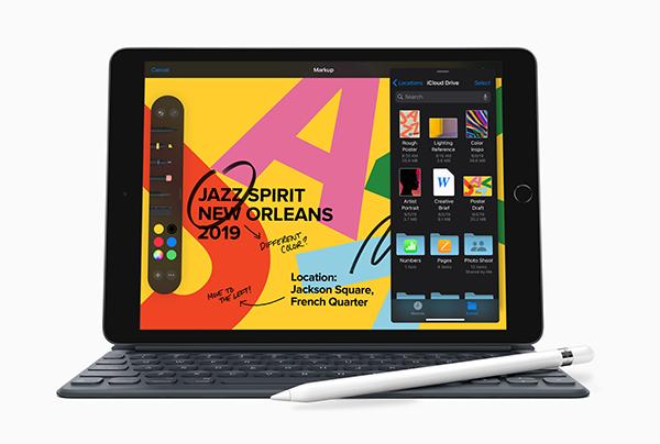 新的第七代 iPad。