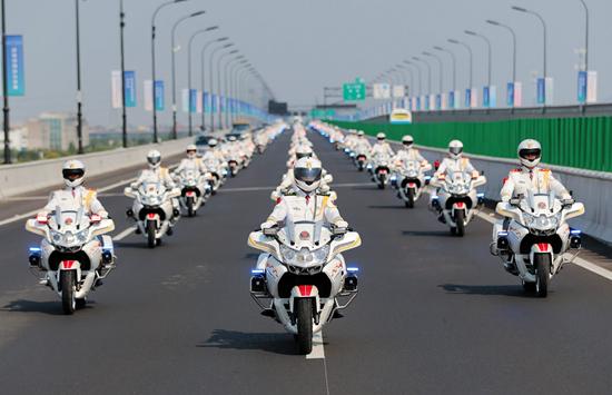国宾护卫队。 本文图片 中国青年报