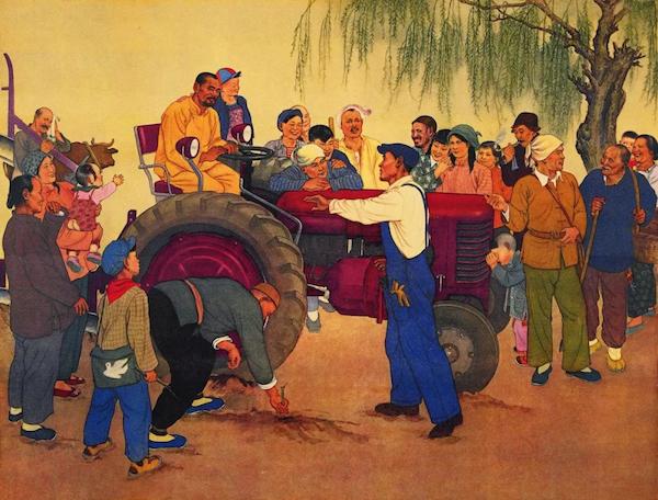 美术印记70年②|那些画中的拖拉机,满是情感、希望与憧憬